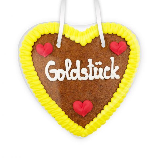 Lebkuchenherz 14cm - Goldstück