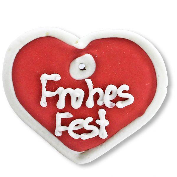 Mini Lebkuchen - Herz - Frohes Fest - ca. 8cm