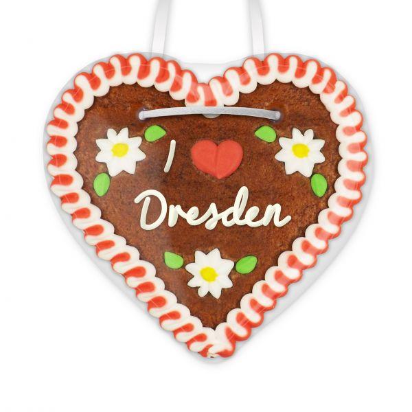 Lebkuchenherz, 12cm - I love Dresden