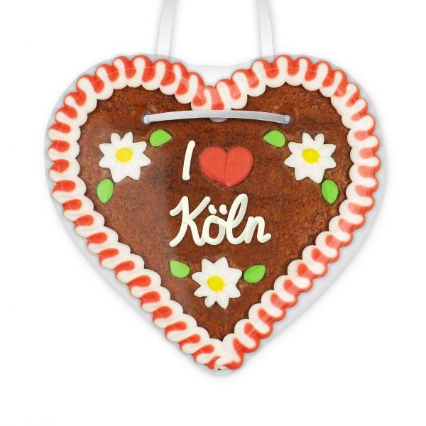 Lebkuchen Herz, 12cm - I love Köln