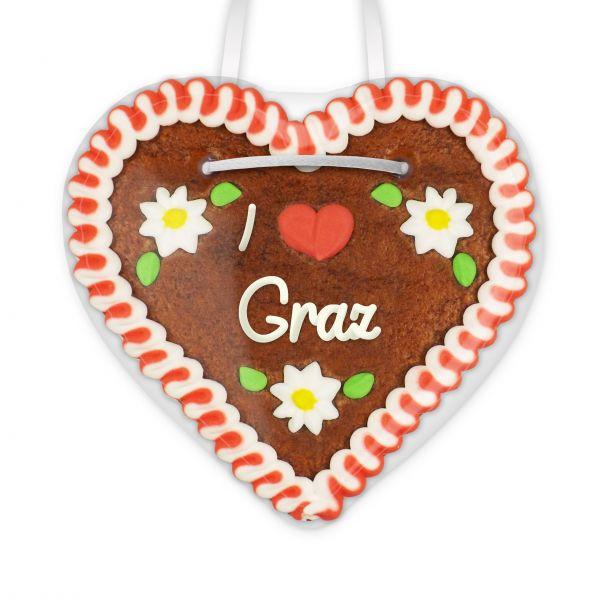 Lebkuchenherz, 12cm - I love Graz