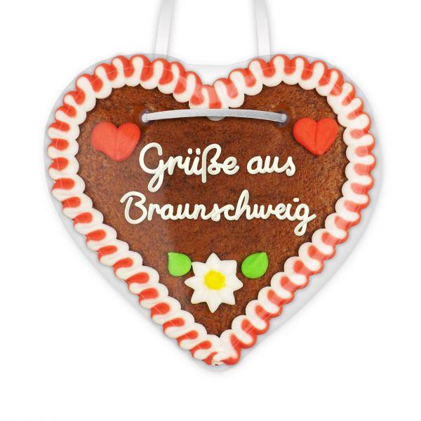 Lebkuchen Herz, 12cm - Grüße aus Braunschweig