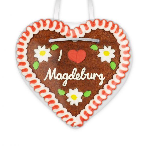 Lebkuchenherz, 12cm - I love Magdeburg