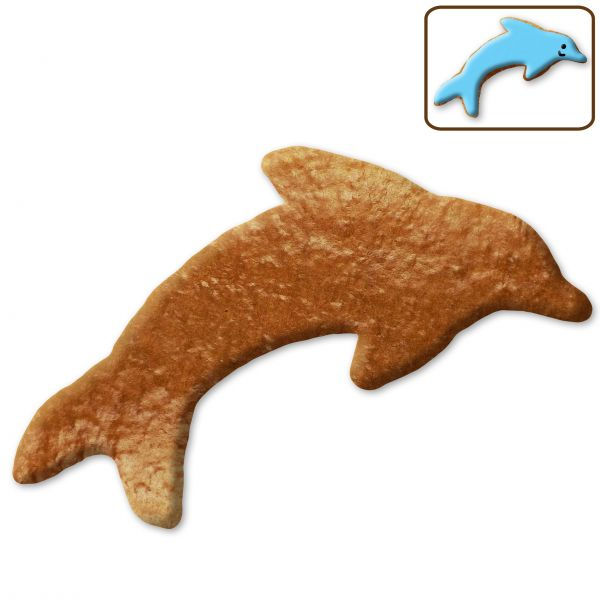 Lebkuchen Delfin Rohling ohne Alles - 12cm