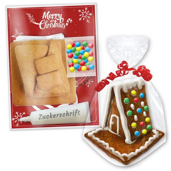 Lebkuchenhaus M - zum selbst Aufbauen im Bastelset - Weihnachten Edition