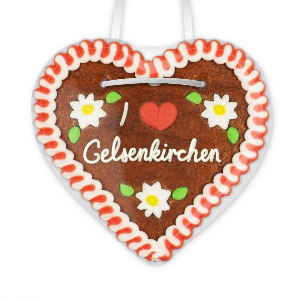 Lebkuchenherz, 12cm - I love Gelsenkirchen
