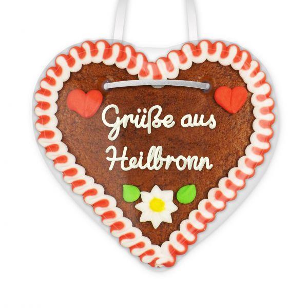 Lebkuchenherz, 12cm - Grüße aus Heilbronn