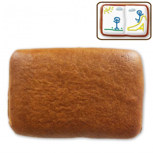Lebkuchen Rechteck Rohling - ohne Alles - ca. 10 x 6cm