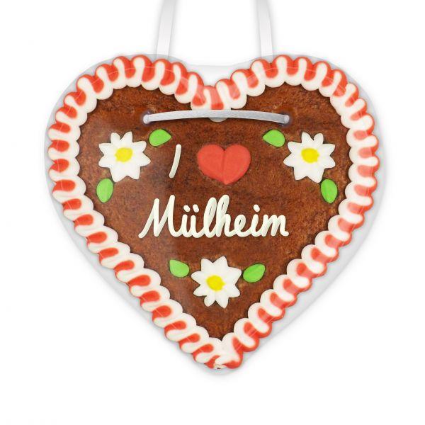 Lebkuchenherz, 12cm - I love Mülheim
