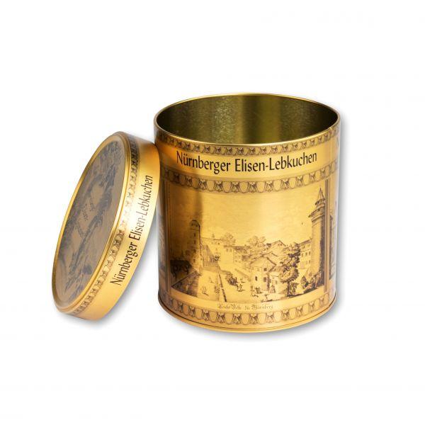 Elisen Lebkuchen Dose - Stadt Nürnberg - Gold - ohne Inhalt
