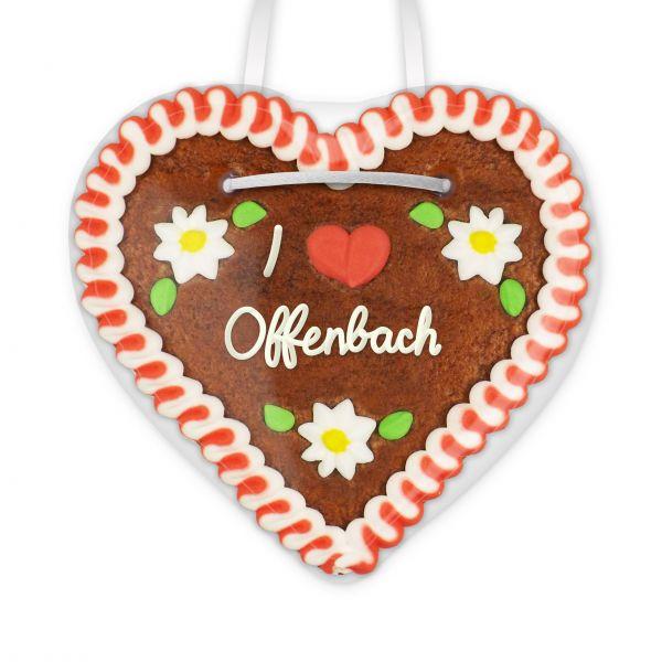 Lebkuchenherz, 12cm - I love Offenbach