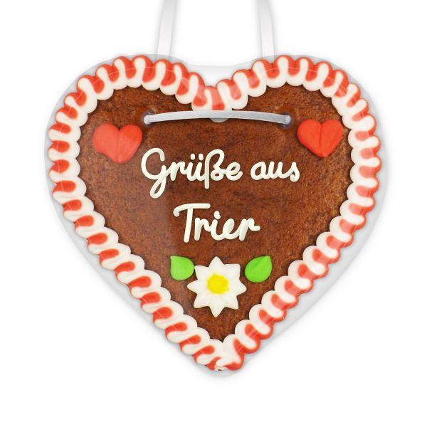 Lebkuchen Herz, 12cm - Grüße aus Trier