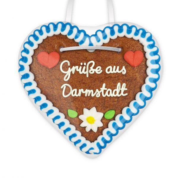 Lebkuchen Herz, 12cm - Grüße aus Darmstadt