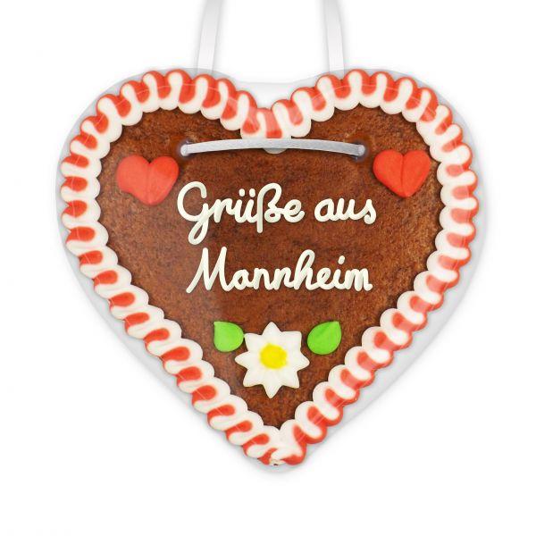 Lebkuchenherz, 12cm - Grüße aus Mannheim