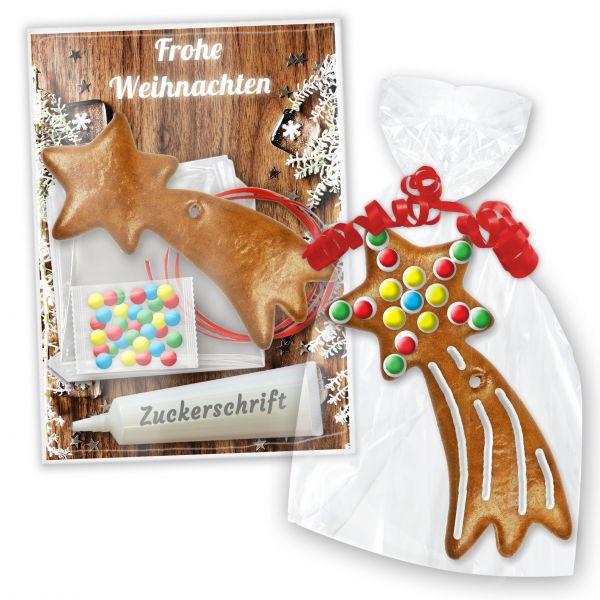 Lebkuchen Bastelset mit Sternschnuppe zum Verzieren - Weihnachten Edition