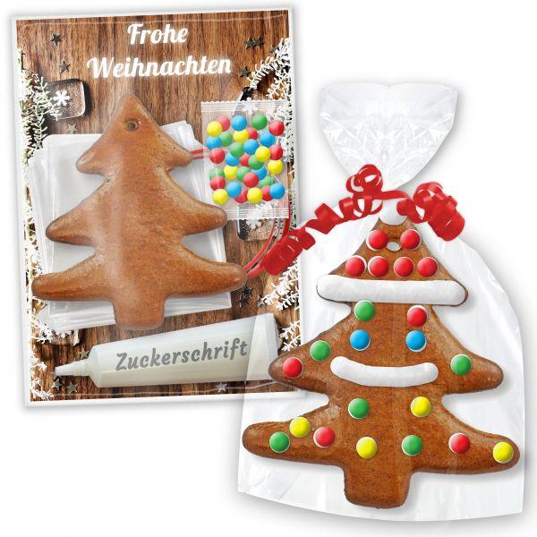 Lebkuchen Baum Bastelset - zum Verzieren inkl. Anleitung - Weihnachten Edition