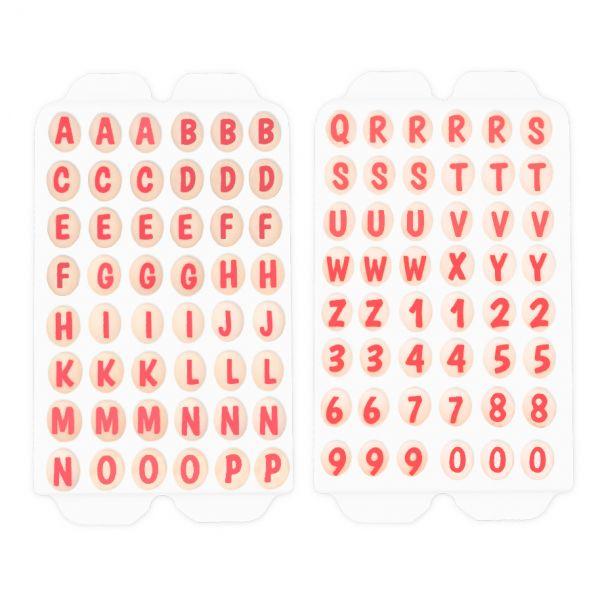 Zuckerdekoration - Buchstaben und Zahlen 96 Stück