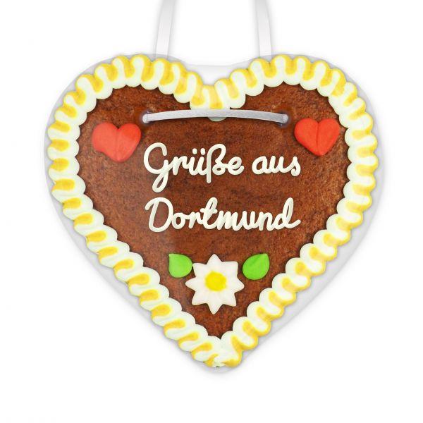 Lebkuchen Herz, 12cm - Grüße aus Dortmund