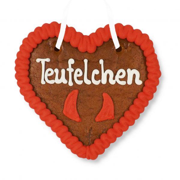 Lebkuchenherz 12cm - Teufelchen