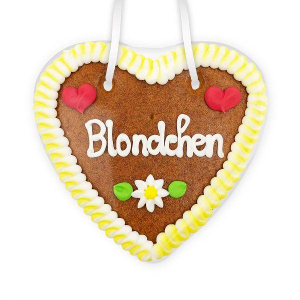 Lebkuchenherz 14cm - Blondchen