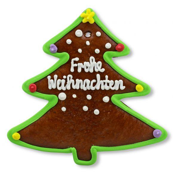 Lebkuchen Weihnachtsbaum - ca. 21cm - Frohe Weihnachten