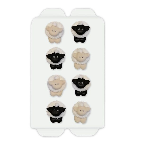 Zuckerdekoration - Süße Schafe - 8 Stück - je 3cm