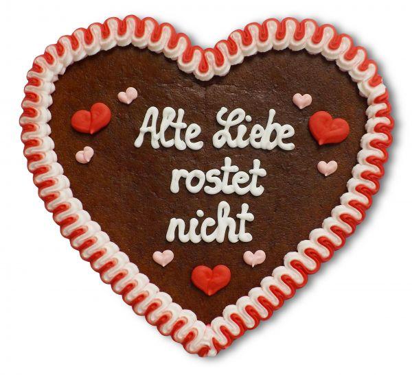 Lebkuchenherz, 23cm - Alte Liebe rostet nicht