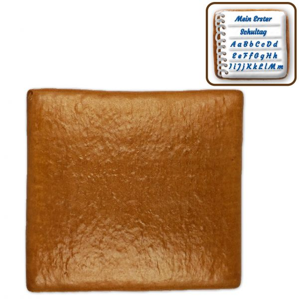 Lebkuchen Rechteck Rohling - ohne Alles - ca. 37 x 38cm