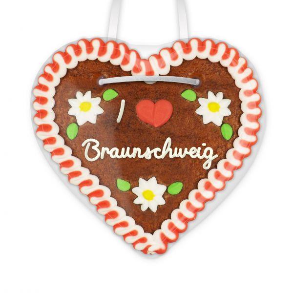 Lebkuchenherz, 12cm - I love Braunschweig