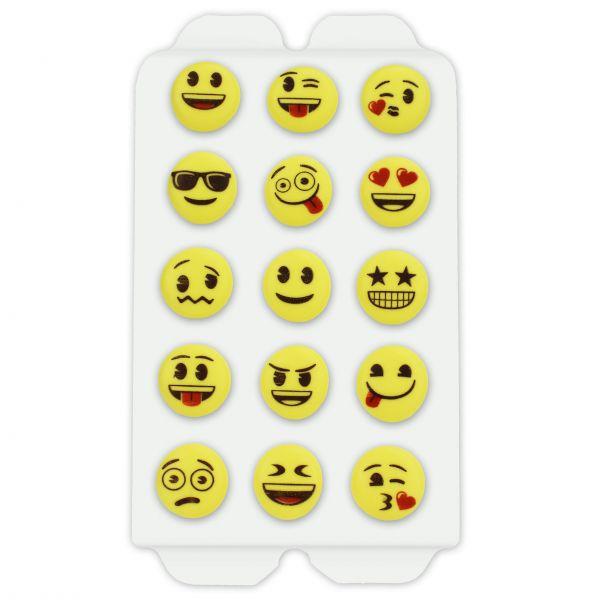 Zuckerdekor - Emoji Motive - 15 Stück - ca. 20mm