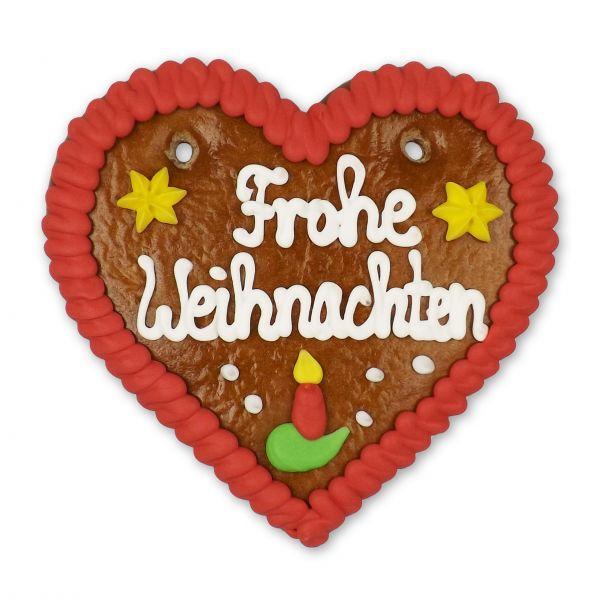 Lebkuchenherz 12cm - Frohe Weihnachten