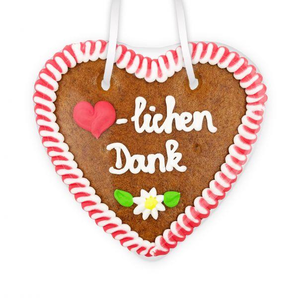 Lebkuchenherz 14cm - Herzlichen Dank
