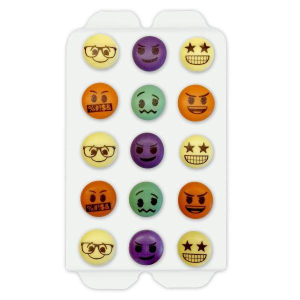 Zuckerdekoration - farbige Smileys - 15 Stück