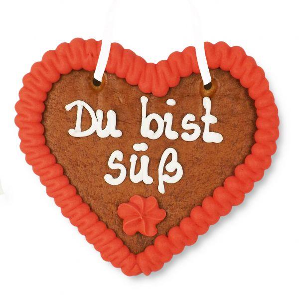 Lebkuchenherz 12cm - Du bist süß