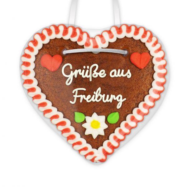 Lebkuchenherz, 12cm - Grüße aus Freiburg