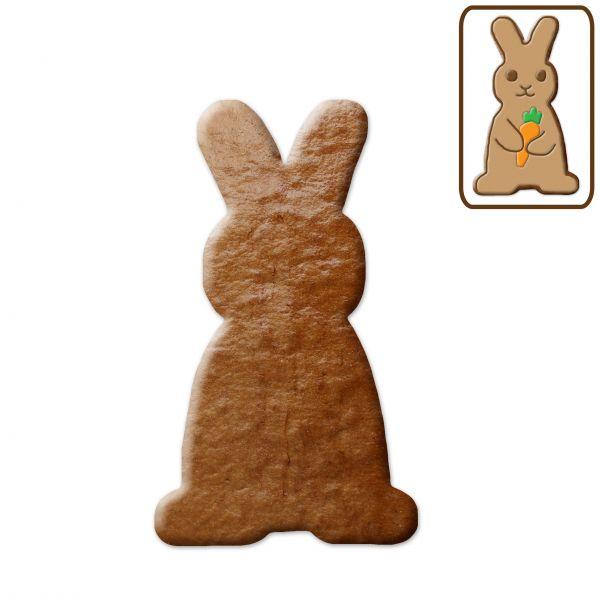 Osterhase (stehend) - Lebkuchen- Rohling ohne Alles - 12cm