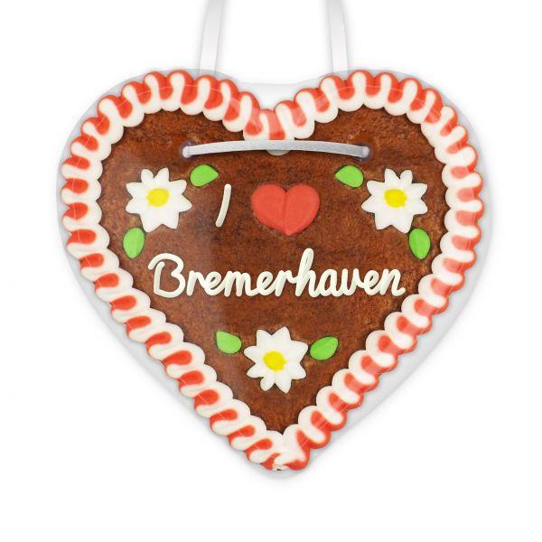 Lebkuchenherz, 12cm - I love Bremerhaven