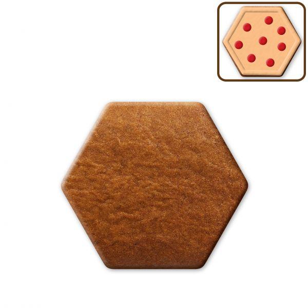Lebkuchen Sechseck Rohling ohne Alles - 13cm