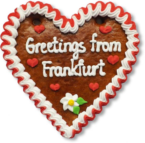 Lebkuchen Herz, 16cm - Greetings from Frankfurt