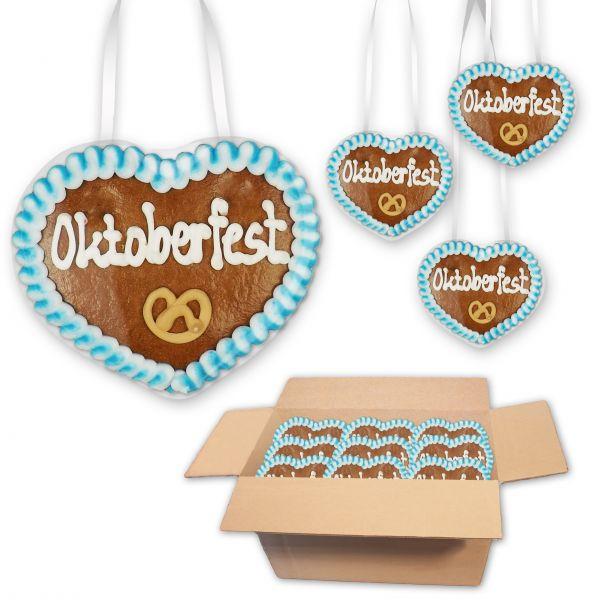 Lebkuchenherz 8cm - Oktoberfest - 30 Stück im Karton