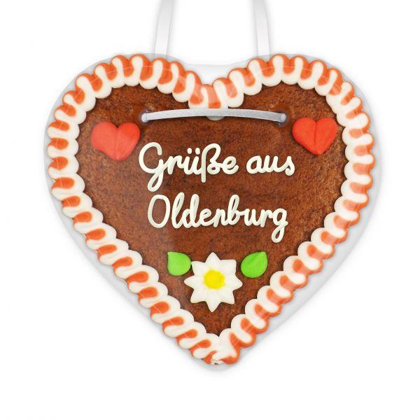 Lebkuchen Herz, 12cm - Grüße aus Oldenburg