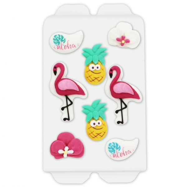 Zuckerdekoration - Süße Flamingos - 8 Figuren