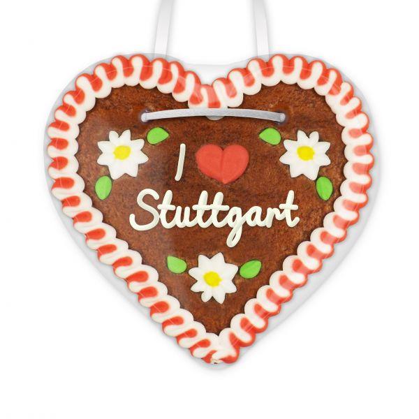 Lebkuchen Herz, 12cm - I love Stuttgart
