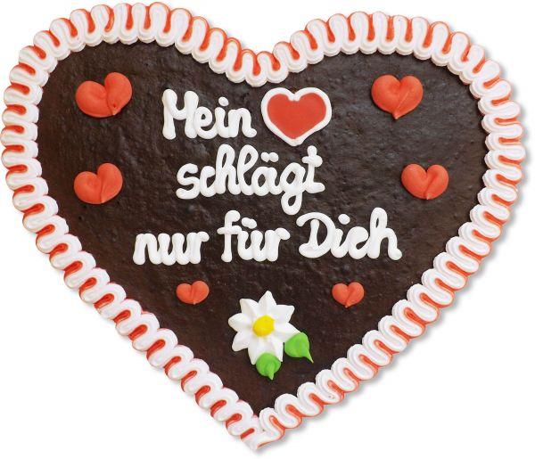 Lebkuchenherz 32cm - Mein [Herz] schlägt nur für Dich