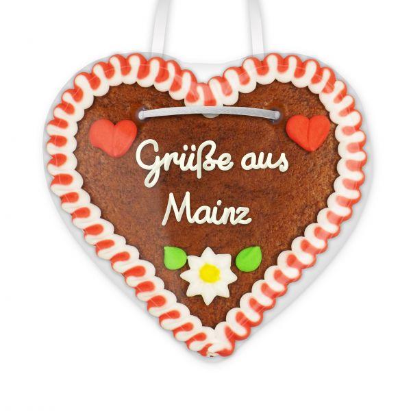 Lebkuchen Herz, 12cm - Grüße aus Mainz