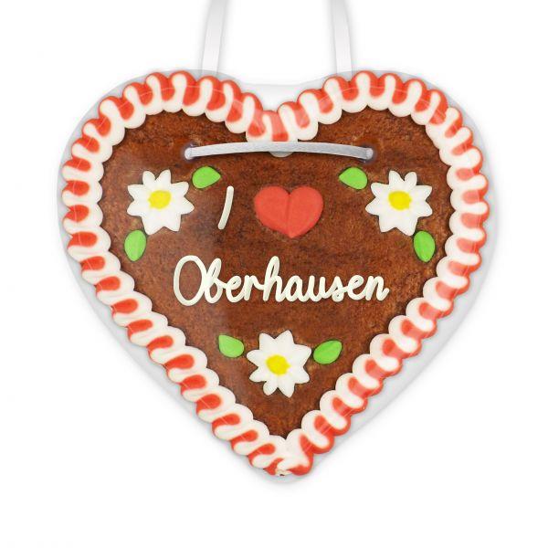 Lebkuchenherz, 12cm - I love Oberhausen